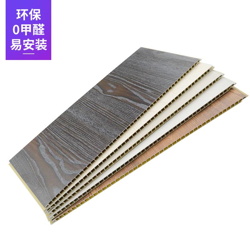 BOLIN Ván trang trí Đá nhựa tích hợp bảng tường 400 * 6 đường may phẳng / V đường may Ván nhựa tường