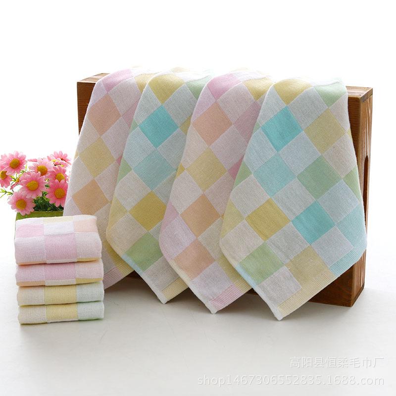khăn tay Nhà máy trực tiếp bông đôi gạc lưới vuông trẻ em khăn tay bé khăn nước bọt bán buôn tùy chỉ