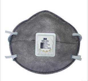 3M Khẩu trang bảo hộ Mặt nạ bảo vệ hạt hơi nước hữu cơ 3M 9913V chống khói bụi