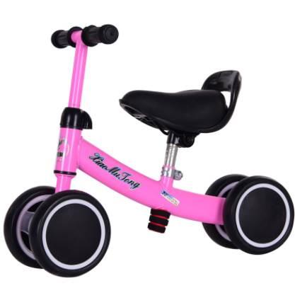 Xe đạp tập đi 4 bánh cân bằng cho trẻ màu xanh và hồng