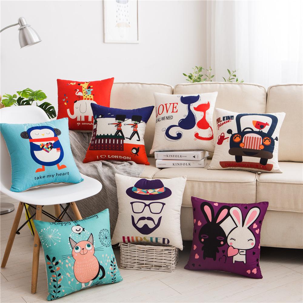 Gối Đệm Sofa sáng tạo với hình hoạt hình siêu dễ thương .