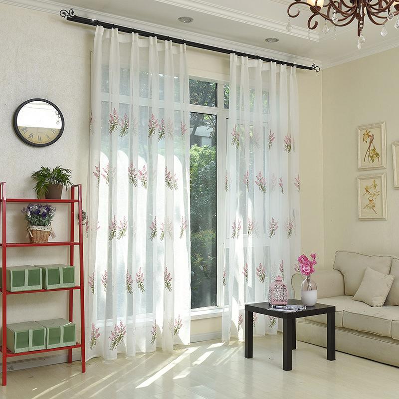 YUFENG rèm thuỷ tinh Rèm cửa sổ vải gia công tùy chỉnh trang trí trẻ em sợi rèm thêu rèm vải Bắc Âu