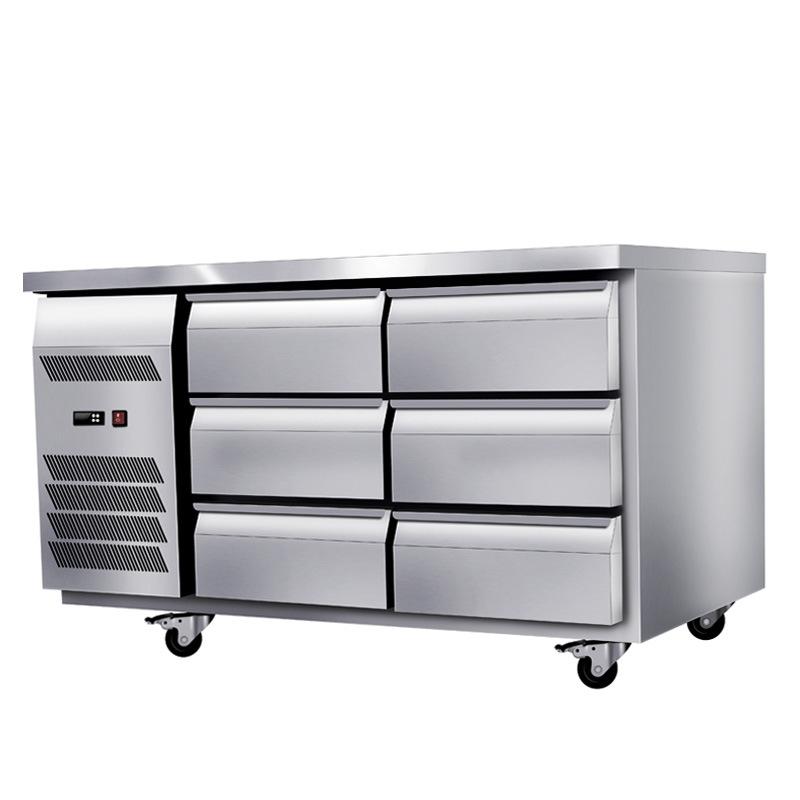 YUENA Tủ lạnh Nhà máy trực tiếp nhà bếp thương mại tủ lạnh ngăn kéo loại làm mát không khí bàn làm v