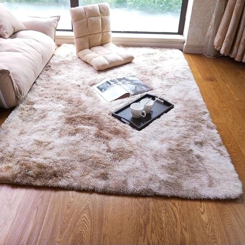 XIAOSIJIA thảm lót Đầm nhuộm màu cà vạt nhuộm màu phòng khách bàn cà phê mat tóc dài có thể giặt đầy