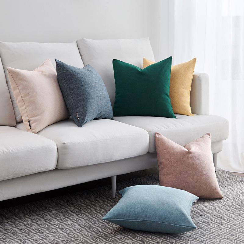 Gối Đệm Sofa sáng tạo với Kiểu dáng màu sắc đơn giản .