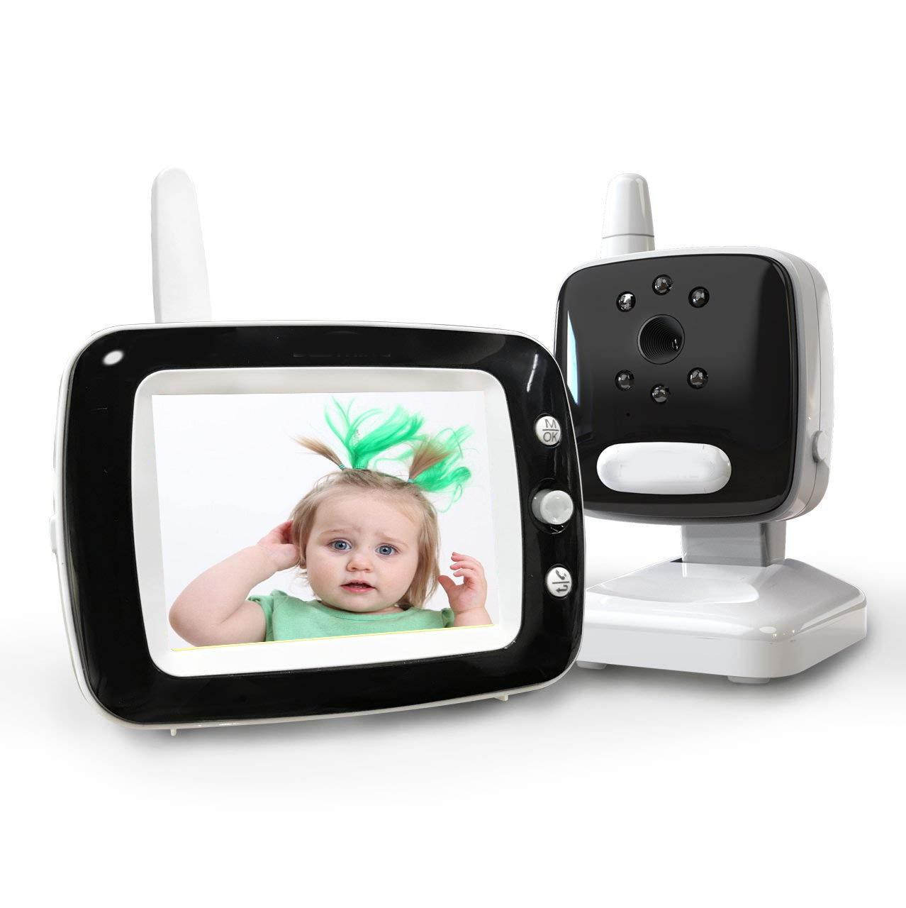 Smartree Thiết bị camera giám sát + Màn hình bé 3,5 inch HD