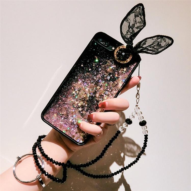 iphone   Thị trường phụ kiện di động  Mới áp dụng cho iPhone XS Max lưới thỏ tai cát chất lỏng điện