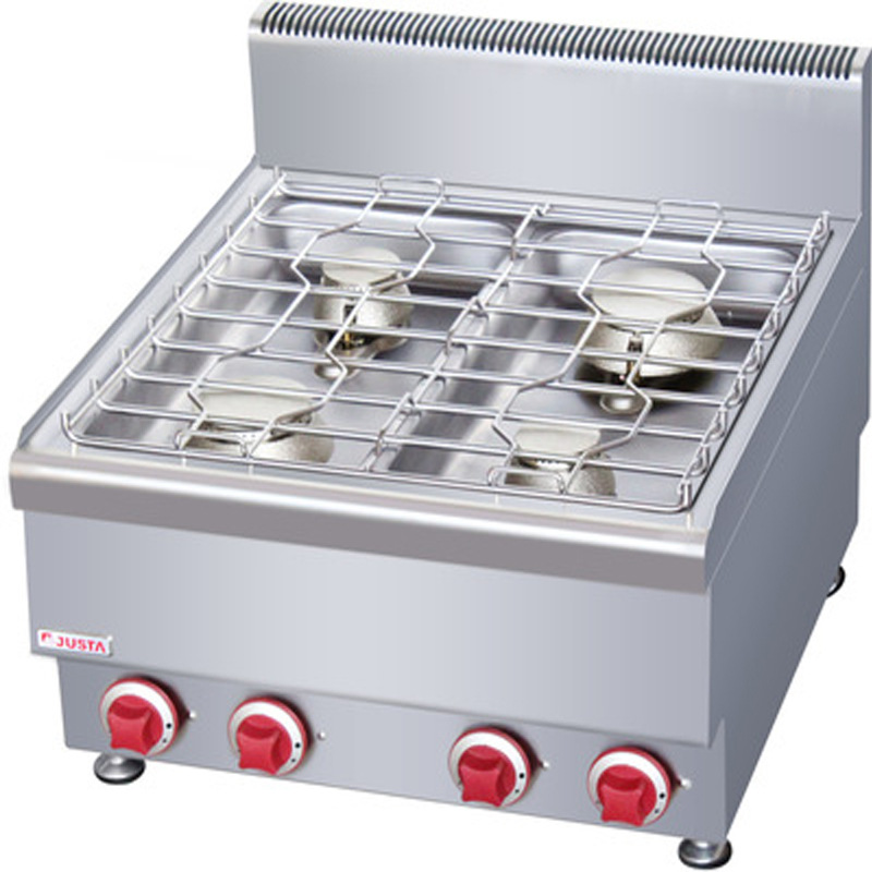 JIASITE Bếp gas âm Các nhà sản xuất cung cấp nồi nấu gas thương mại bốn đầu Jiasite JUS-TR-4600