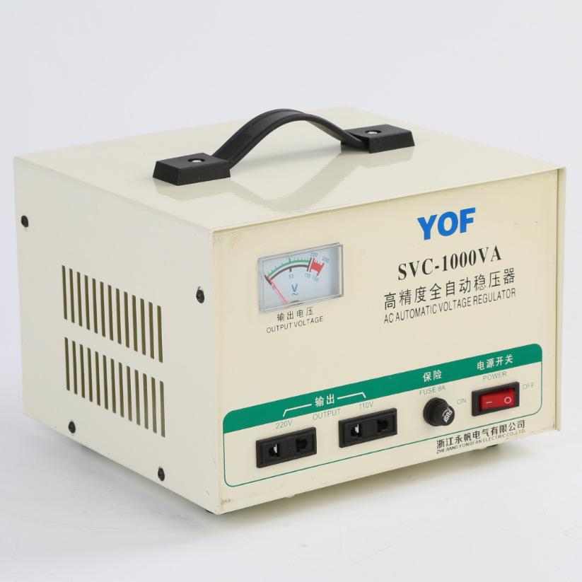 YOF Thiết bị ổn áp Bộ điều chỉnh điện áp xoay chiều một pha TND-1000VA Bộ nguồn AC tự động có độ chí
