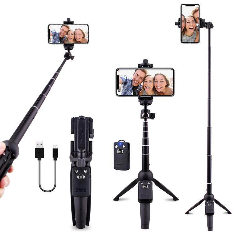Yunteng Gây tự sướng 9928 điện thoại di động gậy selfie ba chân Đa năng máy tính để bàn mini Bluetoo
