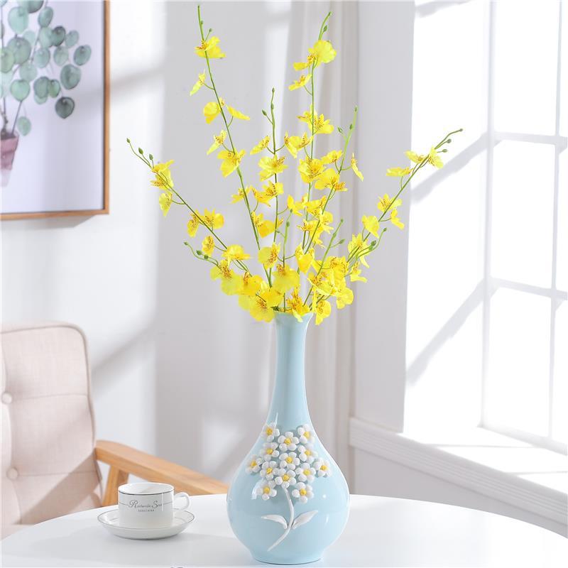 Bình bông Châu Âu bàn ăn nhỏ trong lành bình gốm hoa trang trí nhà cửa tủ tivi trong phòng khách kho