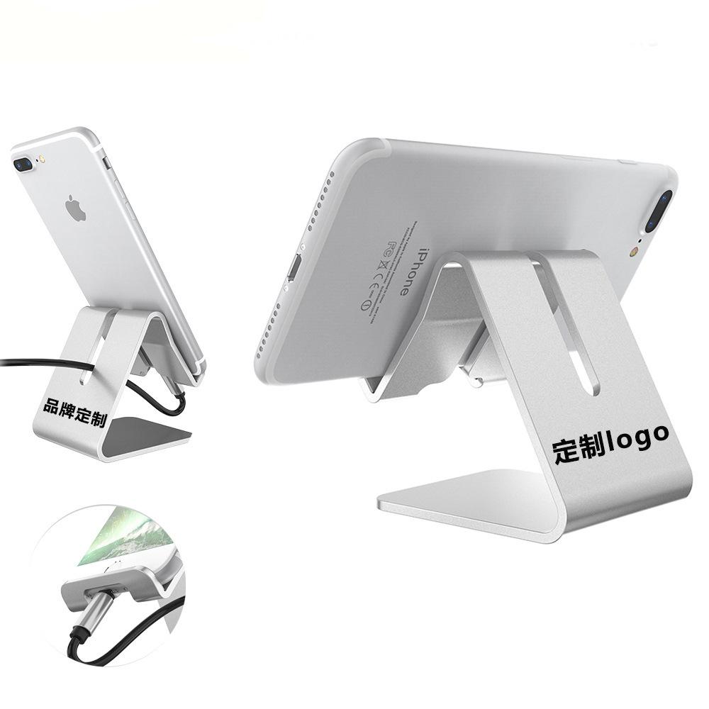 DESNAI phụ kiện chống lưng điện thoại Máy tính để bàn điện thoại di động Giá đỡ đơn giản bằng kim lo