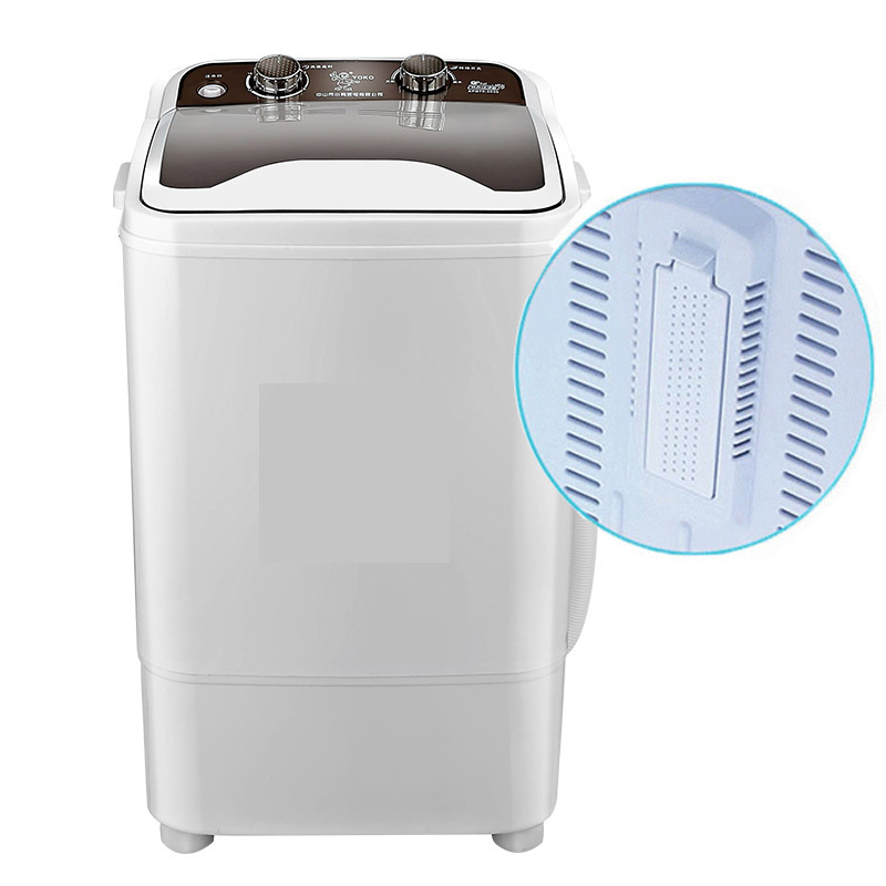 Máy giặt Vịt con bán buôn 7kg công suất lớn thùng đơn nhỏ khử trùng bán tự động và rửa giải một máy