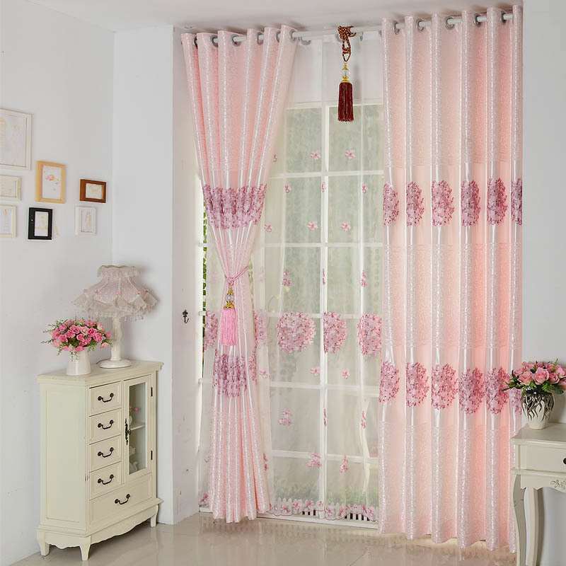 YONGJIA rèm cửa sổ Nhà máy trực tiếp hoa cẩm tú cầu vải bóng râm vải phòng khách cửa sổ phòng ngủ ba