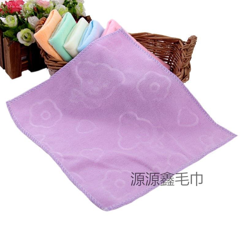 khăn tay Nhà máy sản xuất trực tiếp microfiber trẻ em khăn vuông nhỏ 35x75 khăn mẫu giáo 30x30 khăn