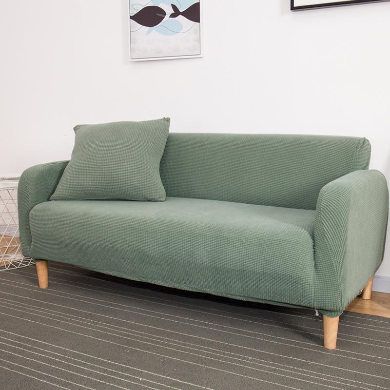 Vỏ bọc Sofa Bán buôn phổ biến đan đệm đệm sofa đơn và đôi ba người bao gồm tất cả bao gồm đầy đủ bao