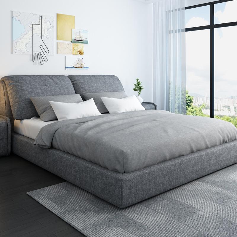 Nội Thất phòng Ngủ : Giường ngủ - Giường Nệm 1,5 m gỗ rắn 1,8 m