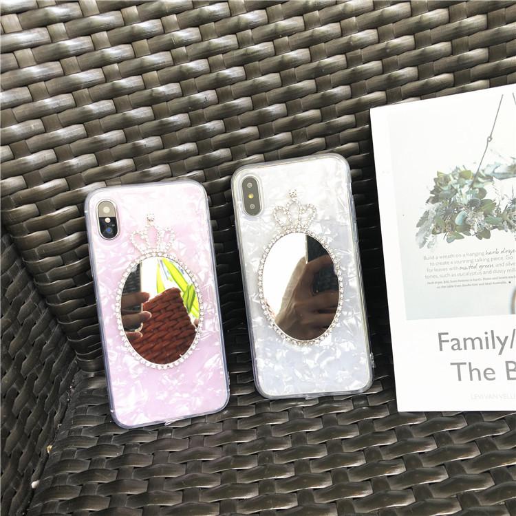 iphone   Thị trường phụ kiện di động  Áp dụng iphonex gương vỏ điện thoại vỏ mềm 8plus NEX vỏ chống