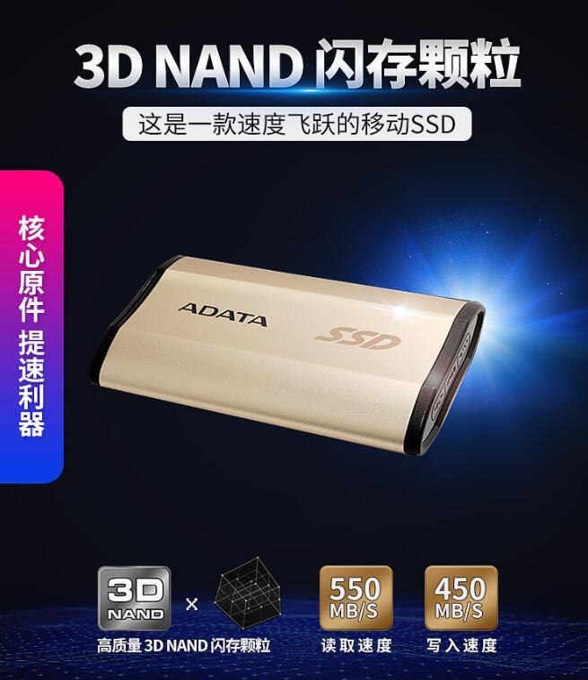 Ổ cứng di động AData/ SE730H SSD rắn 1TB USB3.1 tương thích với Mac mini