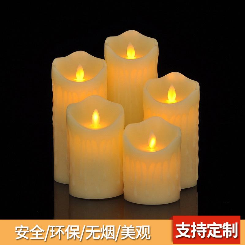 YOUYI Bóng đèn nến Ngày lễ tình nhân sáng tạo nến mô phỏng lãng mạn lời chúc mừng sinh nhật điều khi