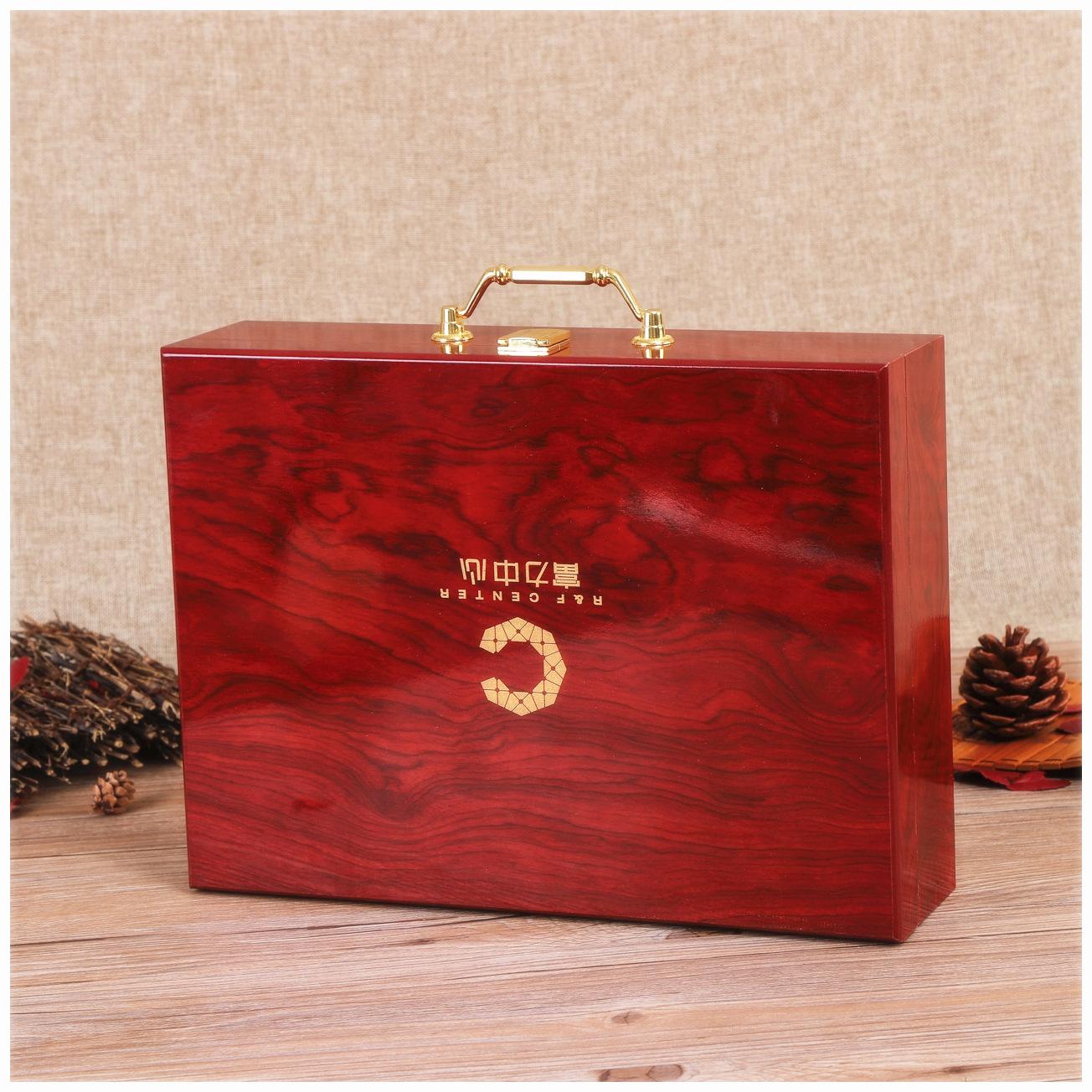 WEICHENG Hộp gỗ Nhà sản xuất tùy chỉnh cao cấp hộp gỗ hộp quà tặng giao hàng bằng gỗ hộp xách tay ch