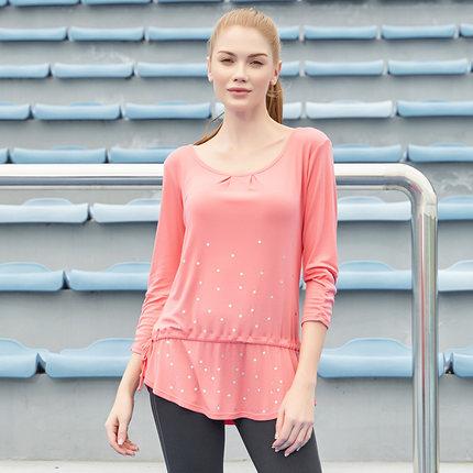 Thị trường bảo hộ lao động  Hosa Hosa Women Fitness Yoga Mặc áo thun mỏng tay áo thường xuyên