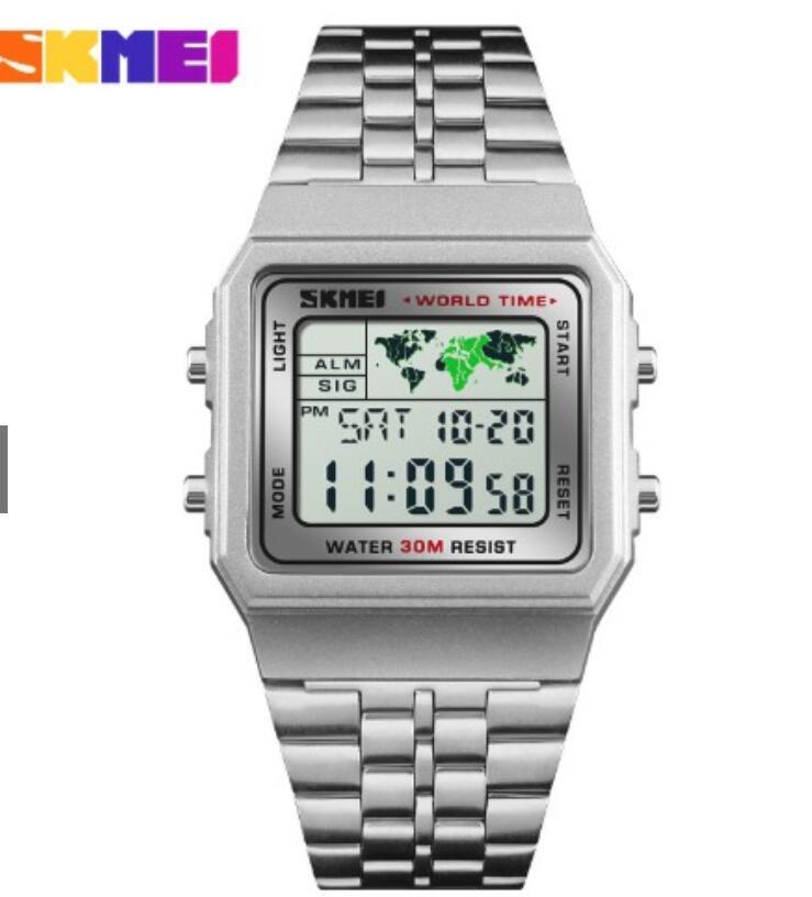 Đồng hồ thông minh Đồng Hồ Nam Nữ SKMEI 1338 World Time 36 Giờ Thành Phố , Chống Nước