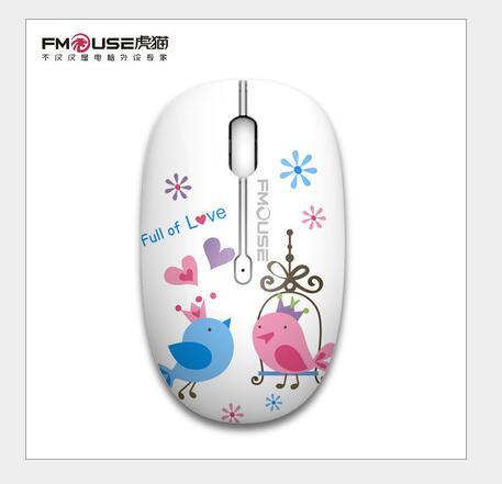 FMOUSE Chuột vi tính Mèo gấm Ocelot M101 laptop máy tính văn phòng thương mại điện 2.4G Quang con tr