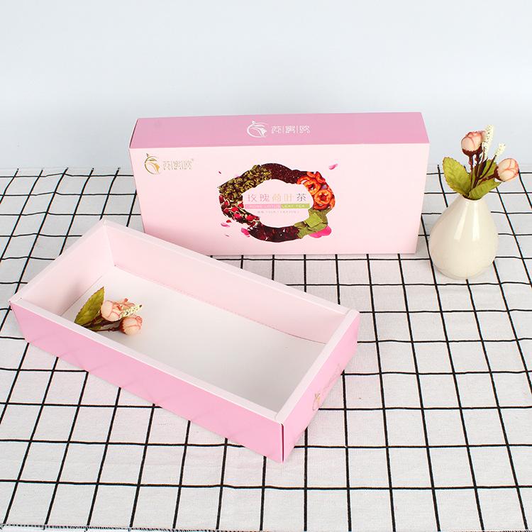 YUCHUANG Hộp giấy Kéo thùng, quà lưu niệm, bánh quy, hộp, ngăn kéo, tùy chỉnh, trà hoa, hộp quà tặng