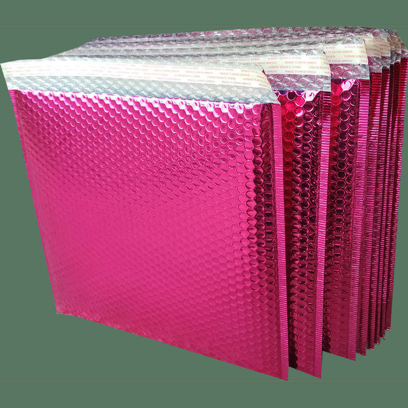 Túi xốp hộp Đen bong bóng thương mại điện tử túi màu hồng mờ bong bóng phong bì mỹ phẩm trang sức qu