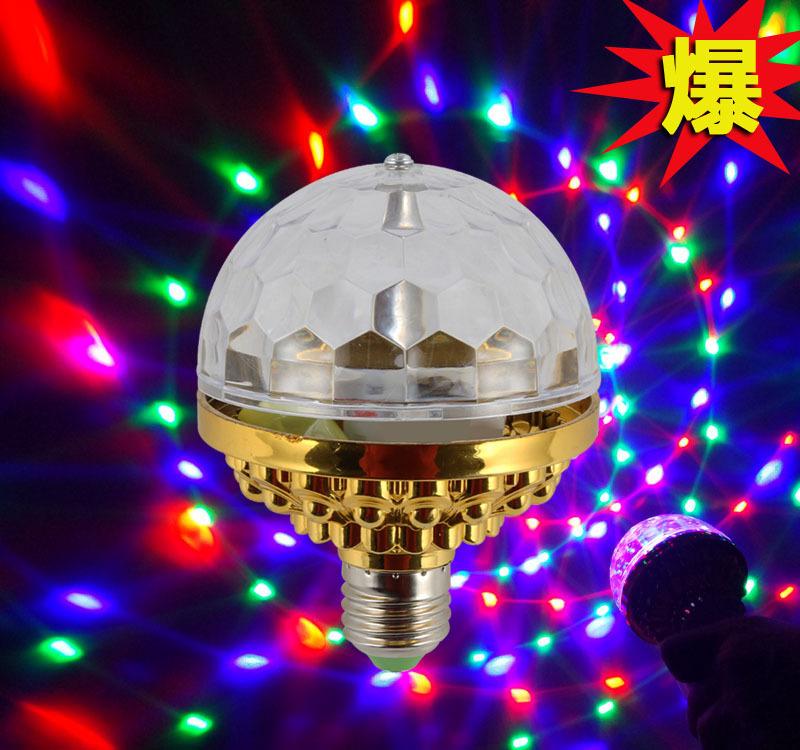 CHANGYUAN Đèn sân khấu Mới đầy màu sắc LED xoay nhỏ ma thuật bóng sân khấu bóng đèn Pha lê bóng ma t