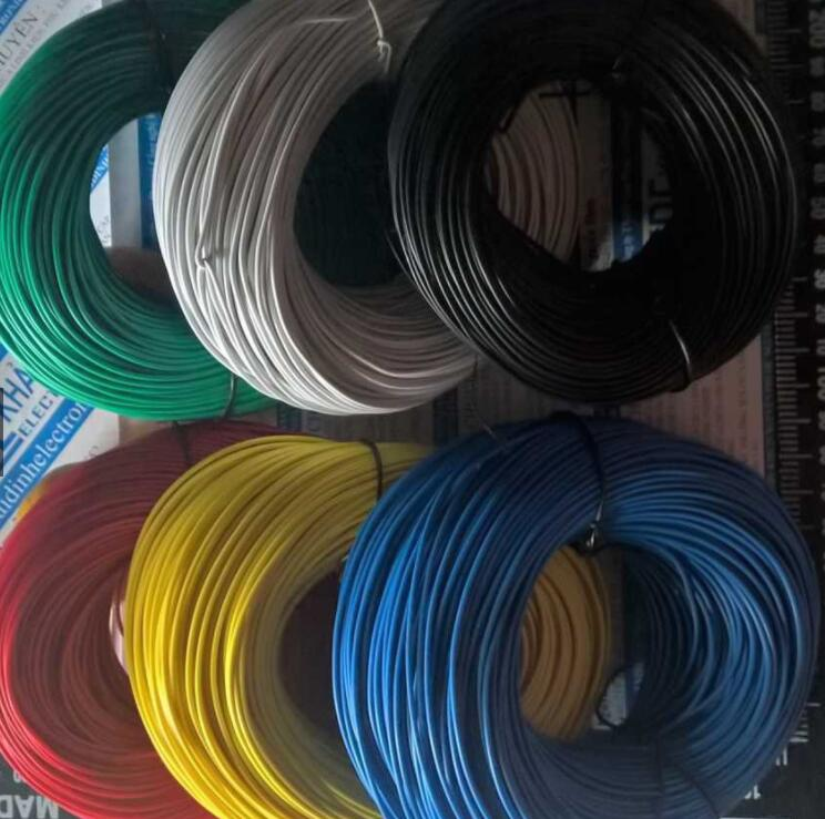dây Điện Đơn RV 1,0mm (Cuộn 10m) Có 6 Màu Đỏ/Đen/Lục/Trắng/Dương/Vàng Kde1691