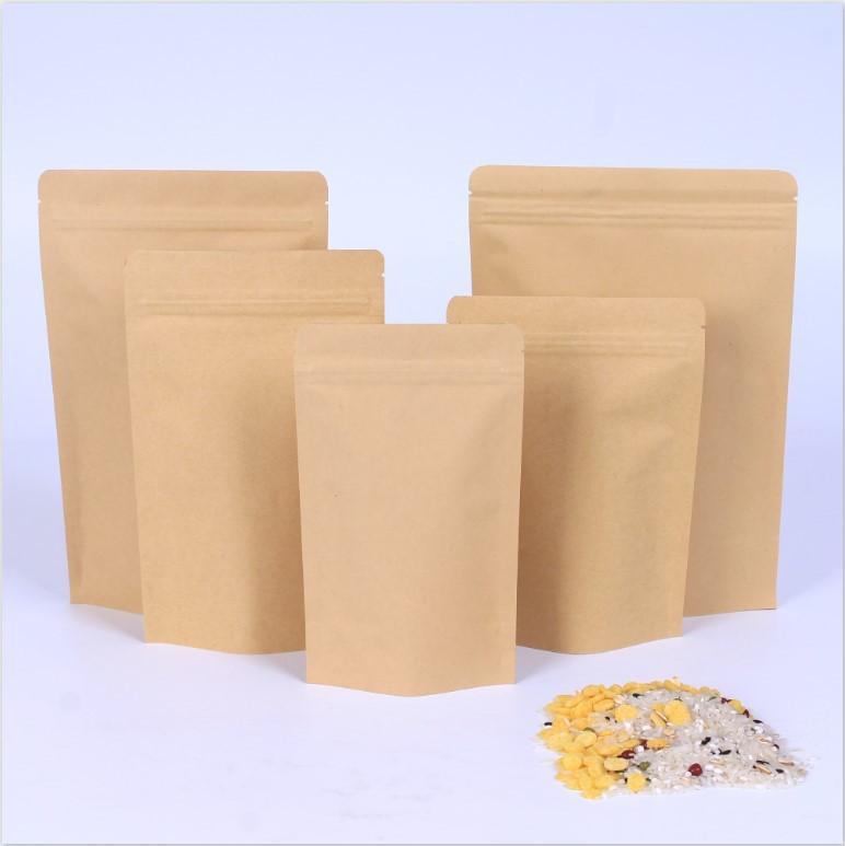 XUANFENG Túi đứng Túi giấy kraft trái cây sấy khô tự hỗ trợ túi giấy kraft aluminized bao bì thực ph