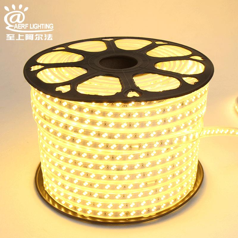 Đèn LED dây Nhà máy trực tiếp 5730 đèn cao áp 220v 120 hạt đôi hàng đầy đủ lõi đồng trắng Fumei đèn