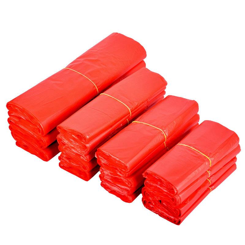 DIANYA Túi xốp 2 quai Túi vest đỏ mua sắm túi xách tay túi rác dày hộ gia đình lấy ra bao bì túi nhự