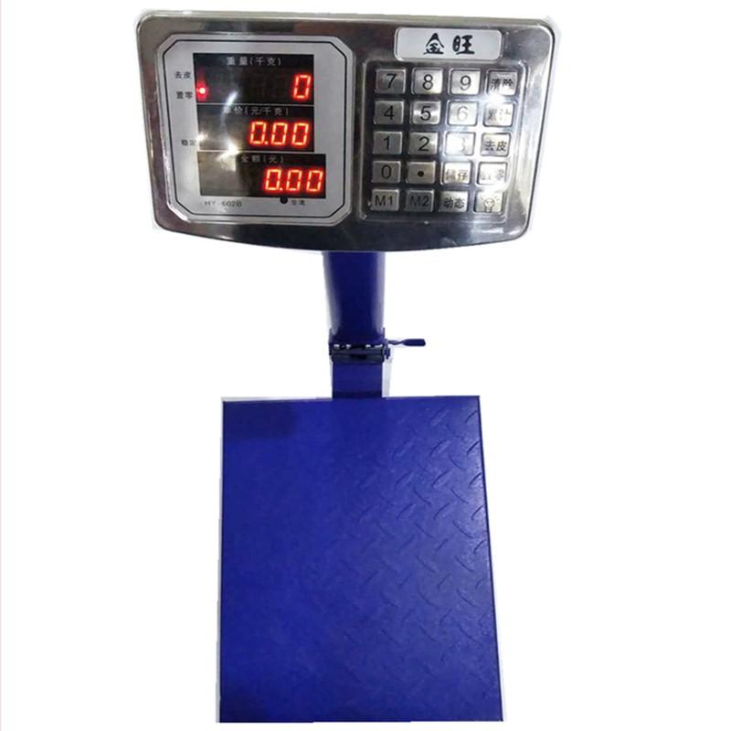 HUAYING Cân điện tử Dụng cụ cân Huaying chính hãng Jinwang 150 kg thép đầu nút thép gấp cân điện tử
