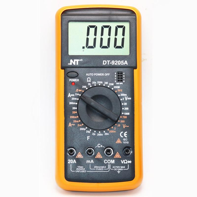 NT Đồng hồ đo điện Màn hình kỹ thuật số vạn năng cầm tay độ chính xác cao vạn năng kỹ thuật số chống
