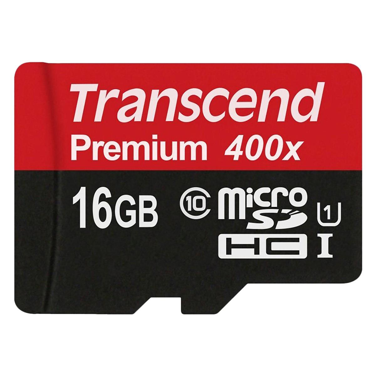 Transcend - Thẻ Nhớ Micro SD Premium Transcend 16GB Class 10
