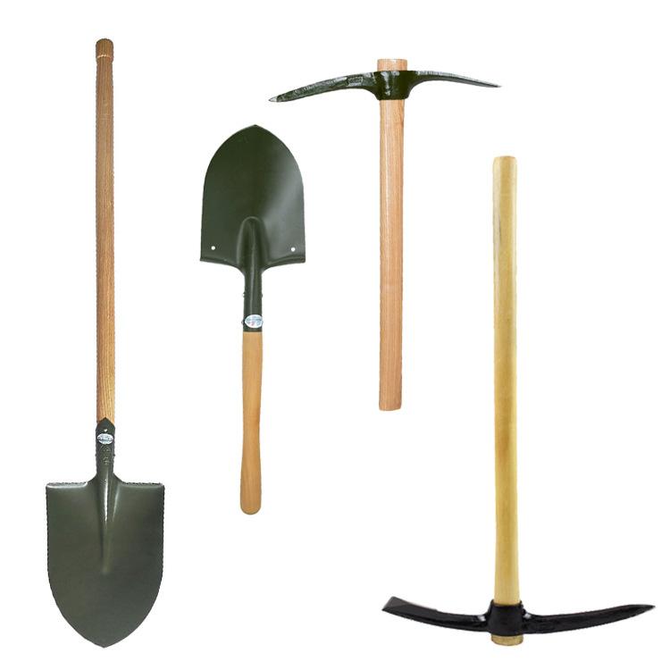 Xẻng , cuốc , công cụ làm vườn .
