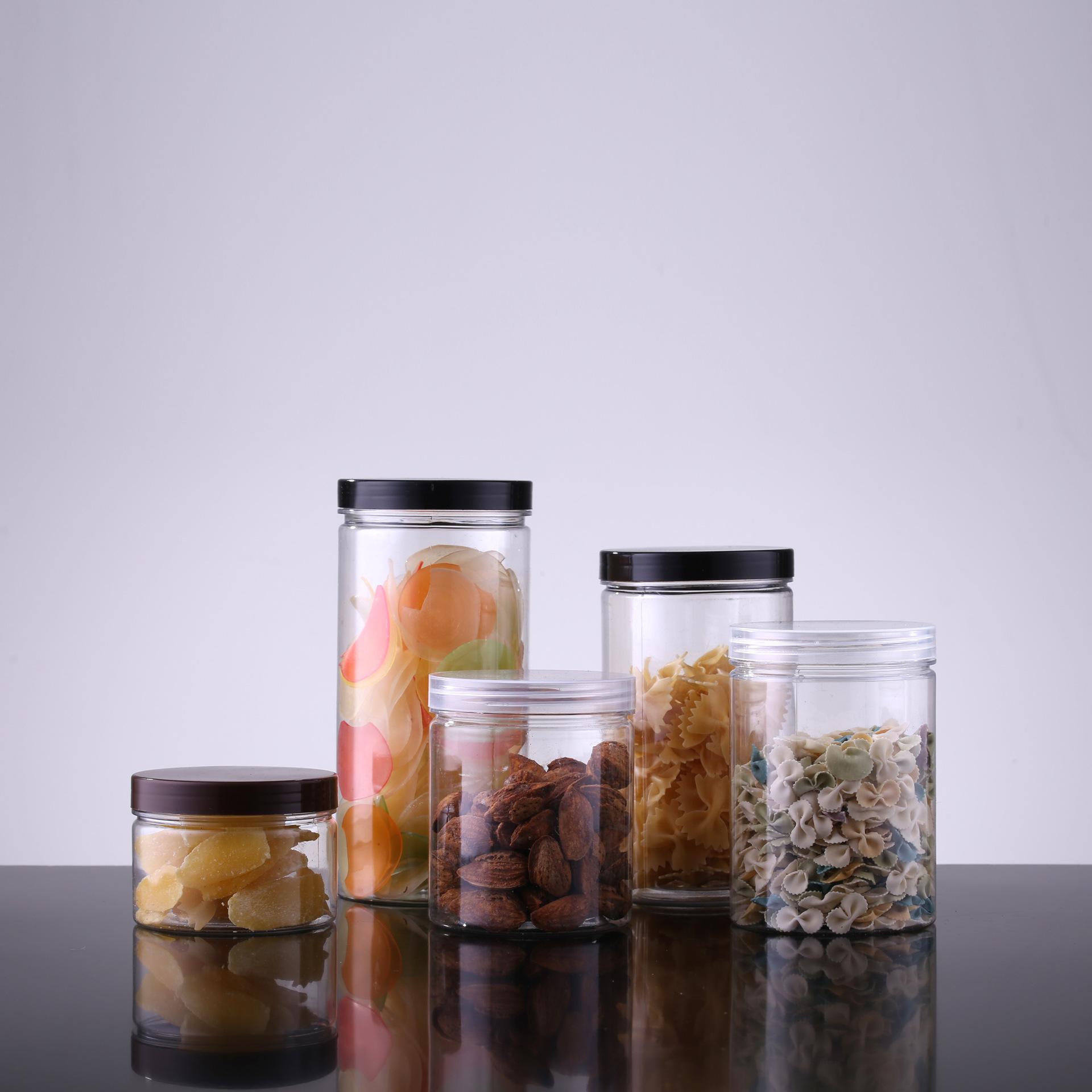 AOSU Hũ nhựa Nhà sản xuất tại chỗ Lon nhựa trong suốt Chai nhựa PET Chai hoa Trà lon nhựa Chai nhựa