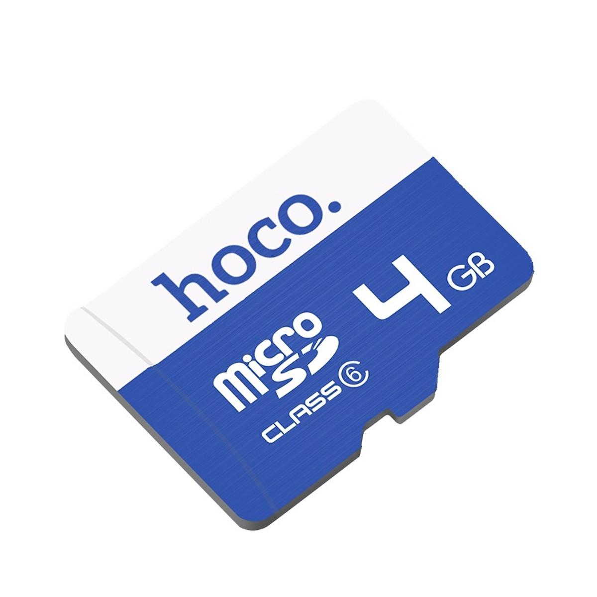 Thẻ nhớ Micro SD 4GB Hoco tốc độc cao dùng cho điện thoại, máy nghe nhạc