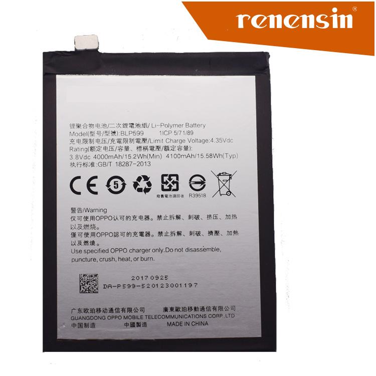 oppo   Pin điện thoại   Renensin cho điện thoại di động OPPO R7PLUS tích hợp pin BLP599 trực tiếp xu