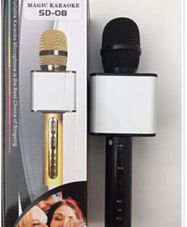 Micro Karaoke Bluetooth SD 08 HÀNG CHUẨN Ạ (2 Màu Vàng Và Đen )