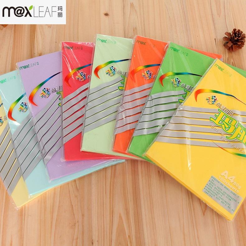 Maxleaf Giấy in Mary a4 sao chép giấy FCL in giấy A4 văn phòng màu origami trẻ em giấy màu thủ công