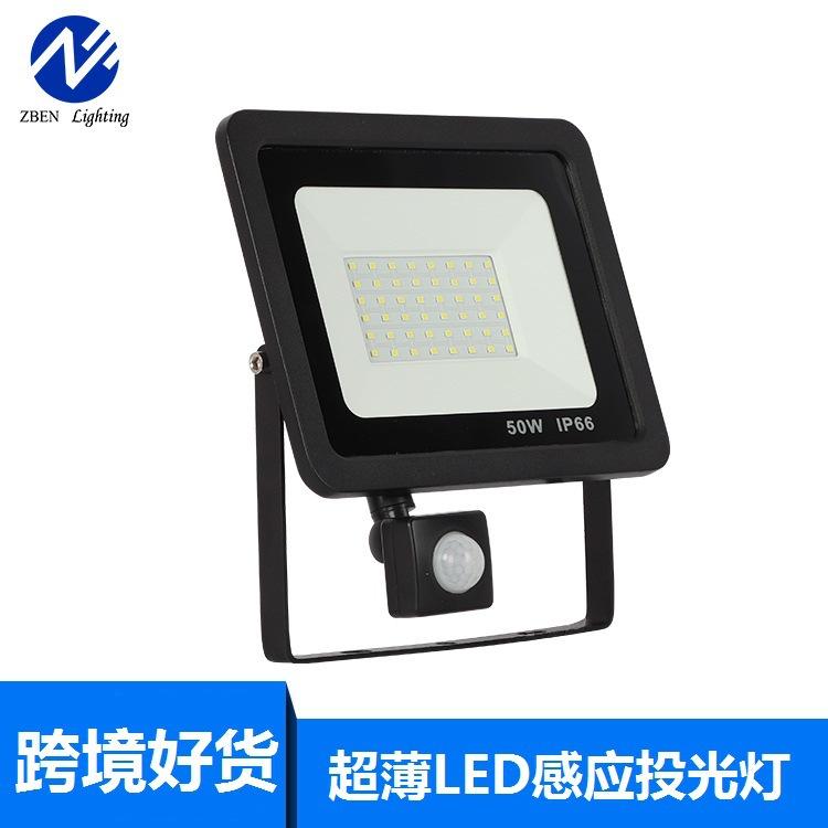 ZEBEN LIGHTING Đèn LED pha cảm ứng siêu mỏng Đèn chiếu sáng chân gạch