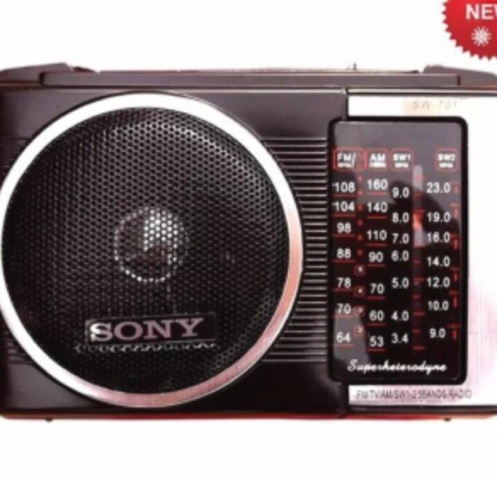 Máy Radio  Đài Sony Radio FM, AM ,SW 701 ( Bảo Hành 3 Tháng)
