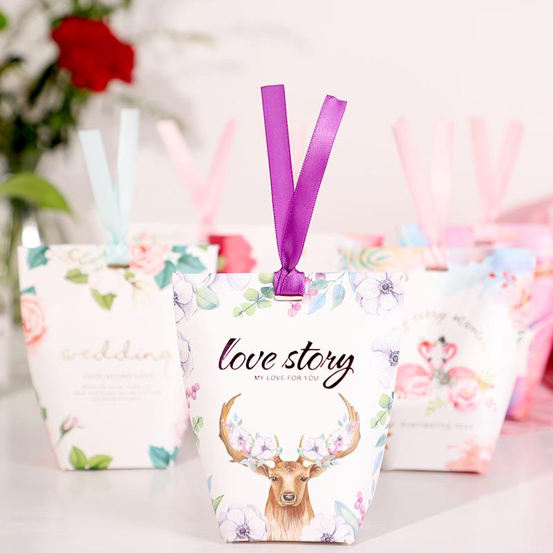 SENSU hộp quà tiệc cưới Wedding Creative Candy Box Wedding Candy Box Hộp đường Hàn Quốc Hộp quà tặng