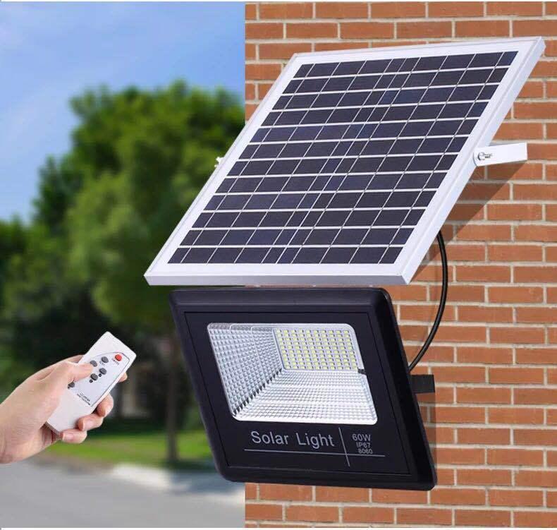 Đèn LED chiếu sáng sân vườn dùng năng lượng mặt trời mới 100W