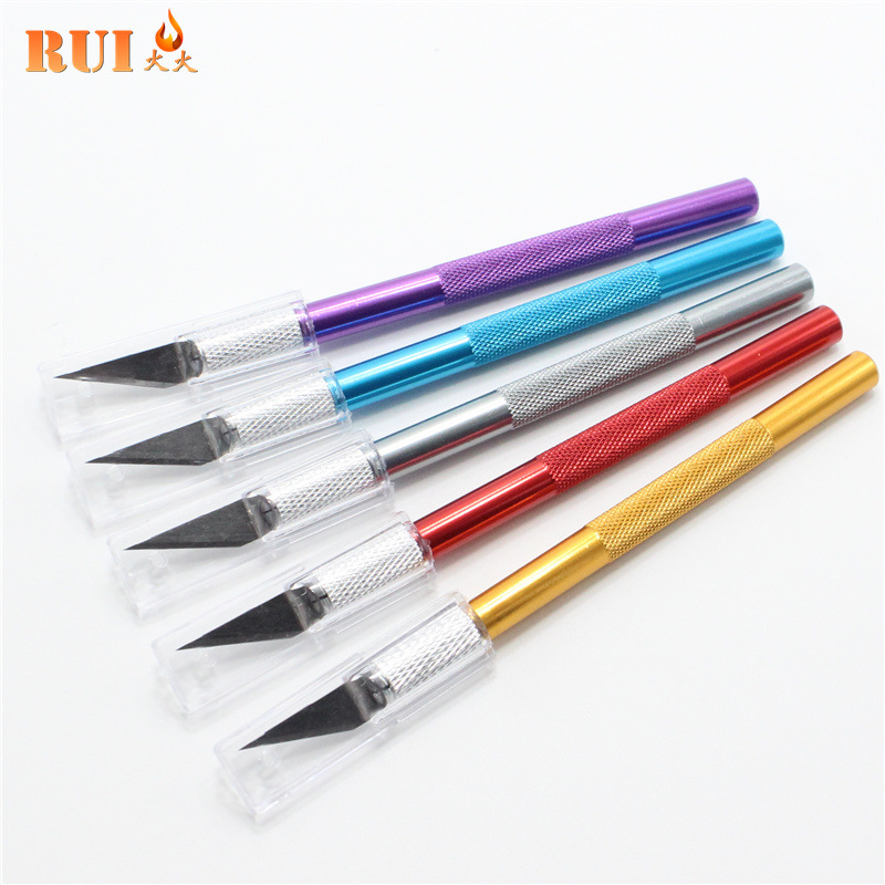 RUIYAN Dao điêu khắc Kim loại da dao khắc Dao dao Nhôm que khắc dụng cụ Cắt móc dao cắt giấy chính x