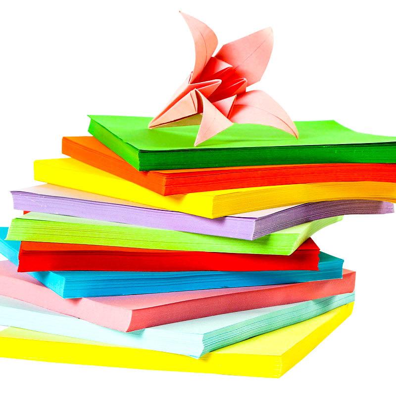 SYLPHY STAR Giấy in màu A4 80g màu giấy in màu huỳnh quang Origami 10 màu thành khoảng 100 tờ / túi
